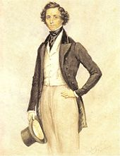 170px-Felix Mendelssohn Bartholdy - Aquarell von James Warren Childe 1830
